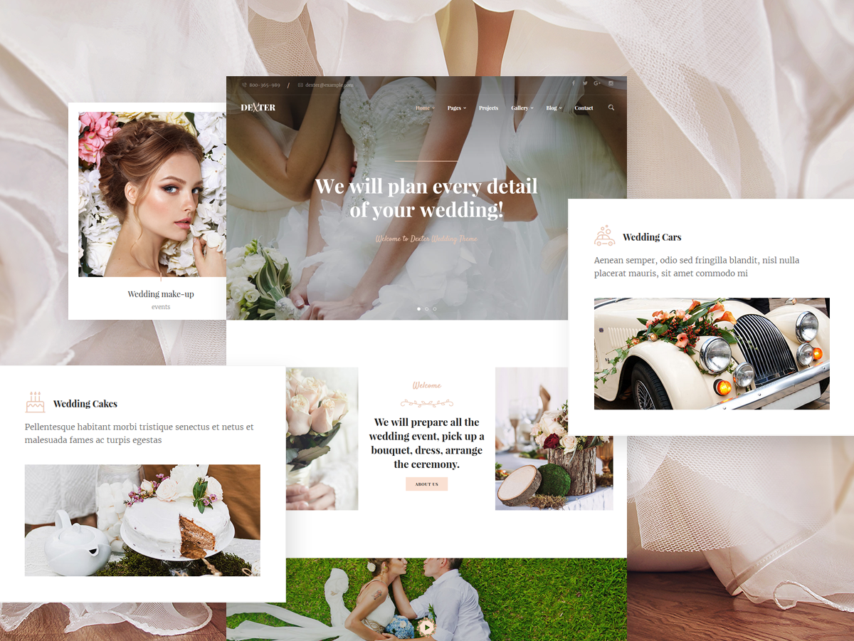 Dexter | Wedding Couple & Wedding Planner/ Agency WordPress Theme